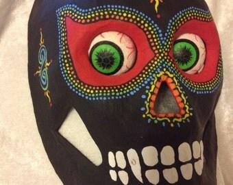 Hand Painted Dia de los Muertos Day of the Dead Sugar Skull Mask