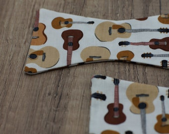 Handmade bow tie guitar self tie freestyle colorful cotton bowtie music