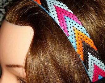Orange Twill Headband