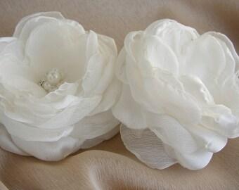 Wedding Hair Piece , White Bridal Hair Flower, Bridal Wedding Accessories, First Communion Headpiece, Simple White Hair Clip, Flower Girl