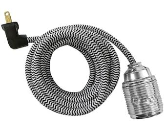 CHROME SCREW LAMP w/ brass socket