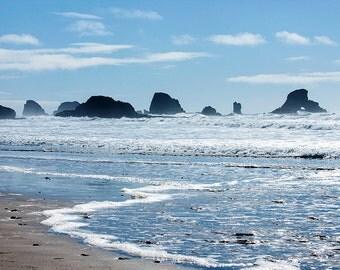 Photo of Beach in Oregon, Beach Photography, Ocean Photography, Oregon Photography, Beach Decor, Beach Art, Oregon Art 4x6-24x36