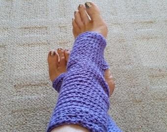 Yoga Socks - Toeless Ballet Socks, Pilates Socks, Dance Warmers, Non-Slip Socks, Grip Socks, Crochet Socks, For Her, Superwash Yarn