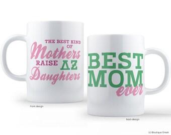 DZ Delta Zeta Best Mom Sorority Mug