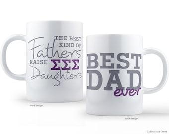 TriSigma Sigma Sigma Sigma Best Dad Mug Sorority Father Mug