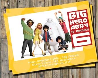 Big Hero 6 Invitation Personalized