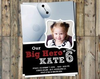 Big Hero 6 Invitation Personalized - Photo