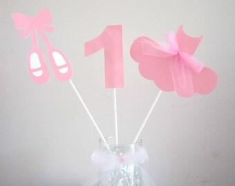 Ballet Birthday Centerpiece Sticks Decorations - Ballerina Birthday, Tutu Birthday, Ballet Centerpieces