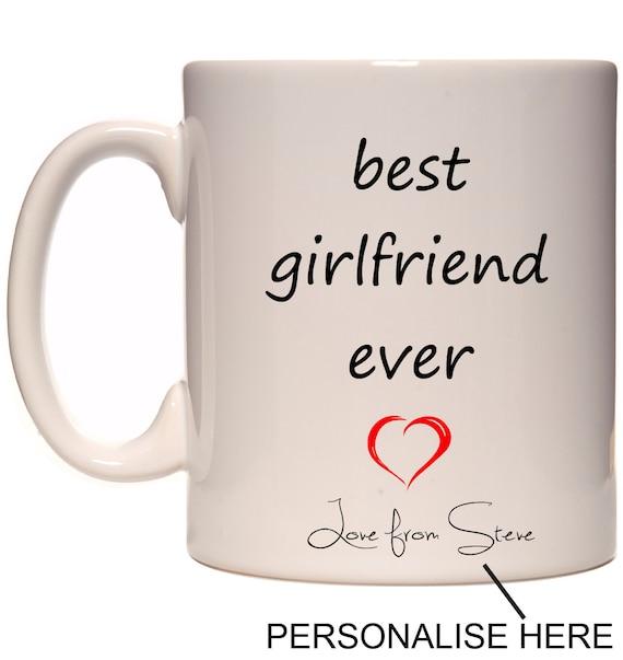 Best Girlfriend Ever Fun Coffee Mug Personalised By