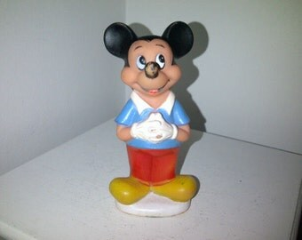 Vintage Mickey Mouse Squeak Toy Disney Productions