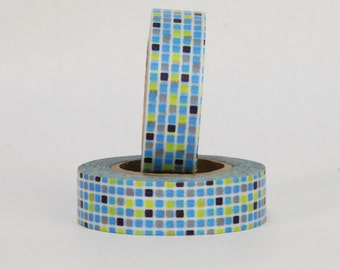 MT Washi Tape - Single Roll MOSAIC TILE Blue or Red