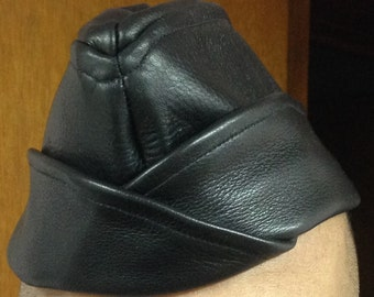 Leather Garrison Hat