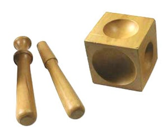 Wood Dapping Block, Wood Doming Punch Set with 2 Punches Wooden Block