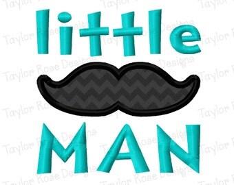 Little Man Mustache Applique Machine Embroidery Design 3x3 4x4 5x7 INSTANT DOWNLOAD
