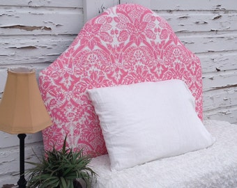 Twin Upholstered Headboard Floral Pink