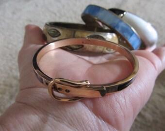 Set of 4 Vintage Metal Bangle Bracelets