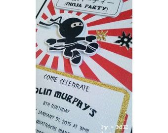 Ninja Party Invitations