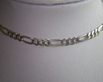 Vintage Sterling Silver 925 Figarucci Chain Link Necklace