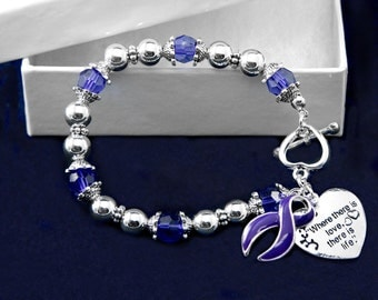 Where There is Love Violet Ribbon Bracelet (RETAIL) (RE-B-01-27)