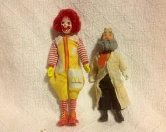 1976 McDonald's McDonaldland Characters Ronald McDonald And The Professor
