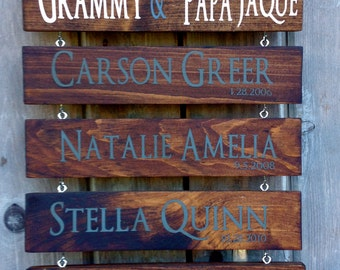 Customized FAMILY/GRANDPARENT Signs