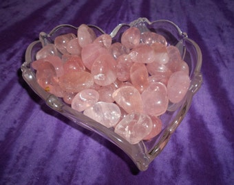 Rose Quarts Tumbled * Heart Chakra