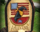 Americana Crow - Painted by Sharon Bond, Painting With Friends E Pattern