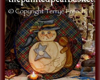 Sweet Muslin Snowman - Painted by Terrye French, E-Pattern