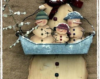 Basket of Snowies by Milvi Consolati, email pattern packet,