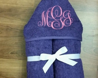Personalized Monogrammed Hooded Towel