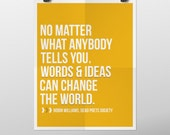 INSTANT DOWNLOAD Robin Williams Dead Poets Society Words and Ideas Quote Poster 11x14