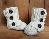 Crocheted baby wrap boots, baby booties, baby gift, baby girl boots, baby shoes, crocheted baby boots,baby girl accessory, winter