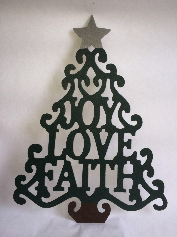Metal christmas tree wall hanger home decor