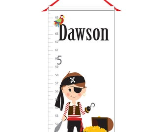Growth Chart - Personalized Growth Chart - Pirate Growth Chart - Pirates Growth Chart
