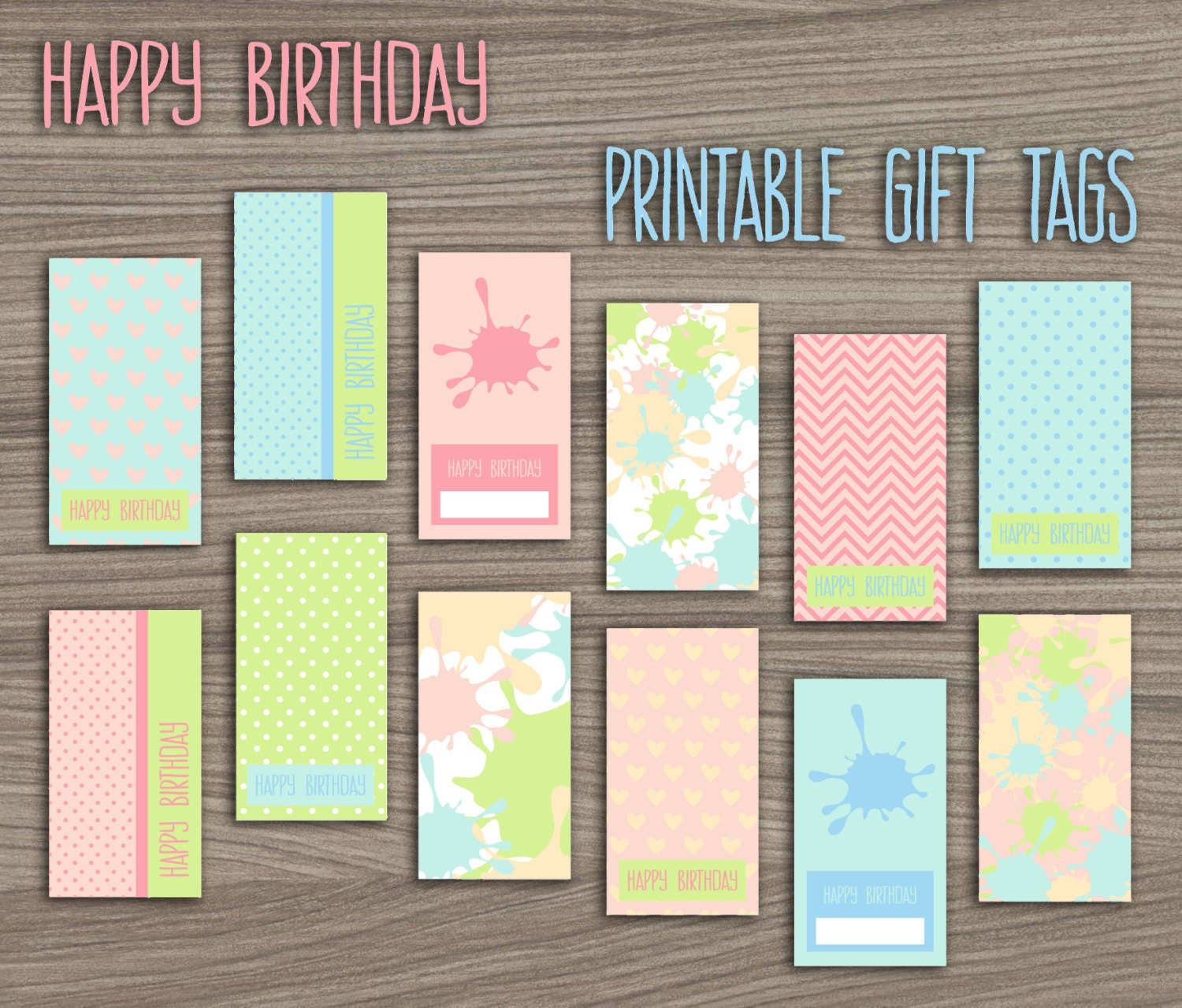 Paint Birthday Party Gift Tags Paintball Party Printable Gift