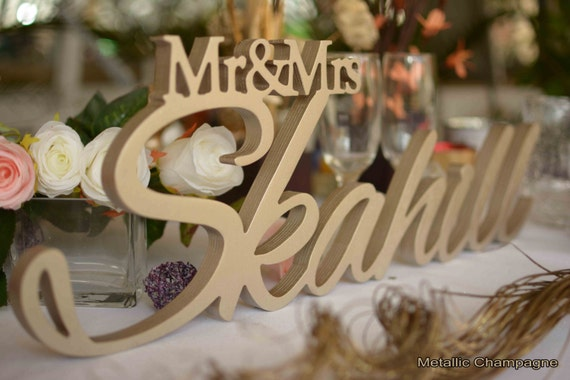 Mr and Mrs LAST NAME, Wedding, Wedding Sign, Mr & Mrs Last Name Table Sign, Wedding Decor