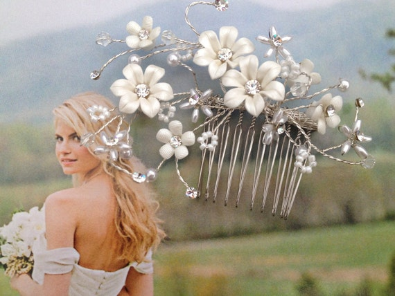 Bridal rhinestone comb, Dazzling vine like headpiece, Hair Comb, Bridal comb,  Gift, Bridal hair, Hair accessory - The Fairy's Wish