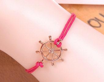 5 Color Leather bracelet, Love Simple Bracelet,Charm Bracelet