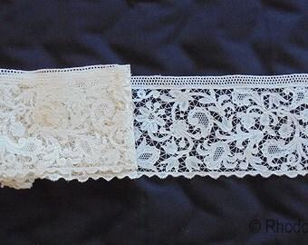 Antique Bobbin Lace - Honiton - 19th Century Handmade  Flounce