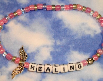 Angel Bracelet for Empowerment, Positive Affirmation and Law of Attraction.