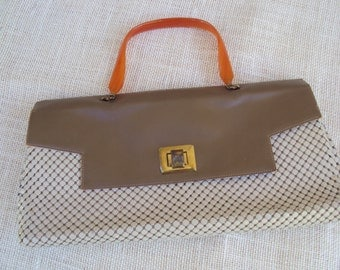 Vintage Whiting Davis Purse with Leather Closure