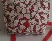 Hello Kitty Messenger Bag  small size 100 cotton handmade