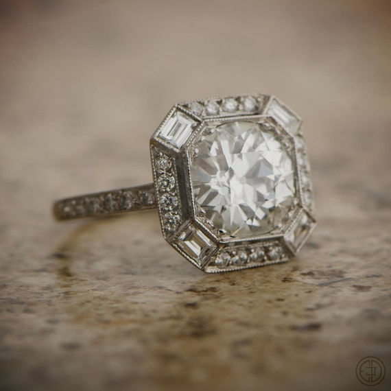 Estate Engagement Ring Old By EstateDiamondJewelry On Etsy