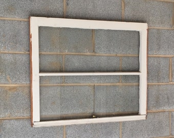 vintage 2 pane window frame 31w x 27h rustic antique wood wedding beach decor photos picture frame home decor business glass