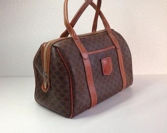 Vintage Celine Bag / Dark Brown Patent Leather by BagsTalk on Etsy