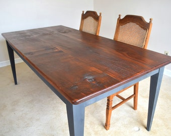 Handmade Rustic Dining Table Farm Kitchen Table