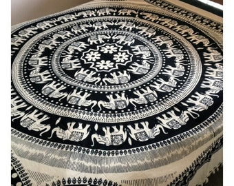 popular items for mandala wall hanging on etsy. Black Bedroom Furniture Sets. Home Design Ideas