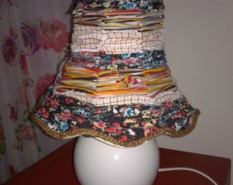 Vintage table lamp and vintage lampshade, upcycled lighting, shabby chic, granny chic, retro lampshade and lamp, homeware, interiors