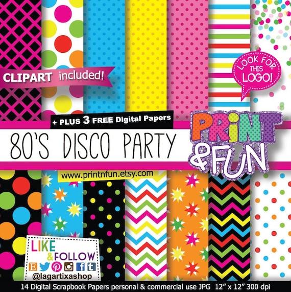 fondos papel digital 80 s fiesta dj rock discoteca rosa