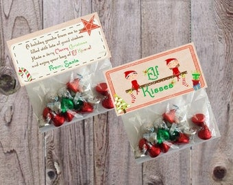 Hershey kisses favors buy candy kiss labels decorated with an elf